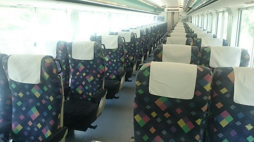 JR東日本 E257系電車 特急あずさ26号 車内 大糸線 南小谷駅