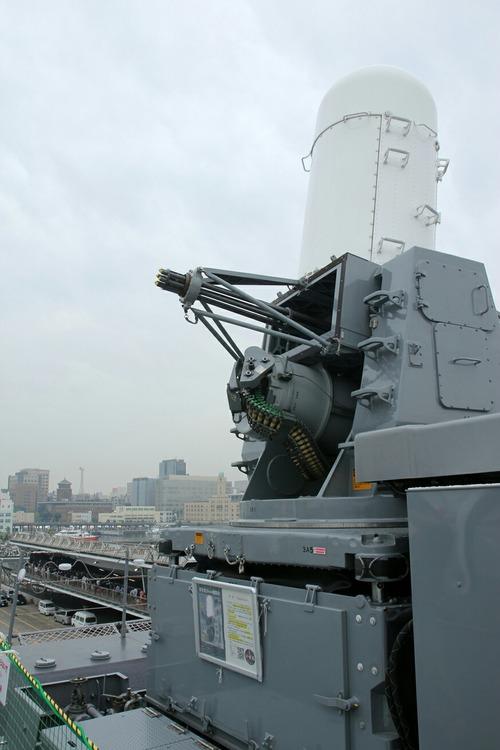 DDH-183 護衛艦いずも 一般公開 高性能20mm機関砲 ファランクス