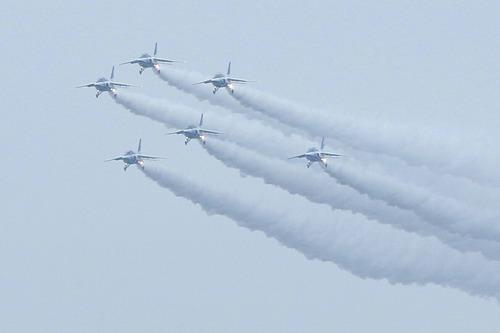ブルーインパルス クリスマスツリー 百里基地創設50周年記念航空祭