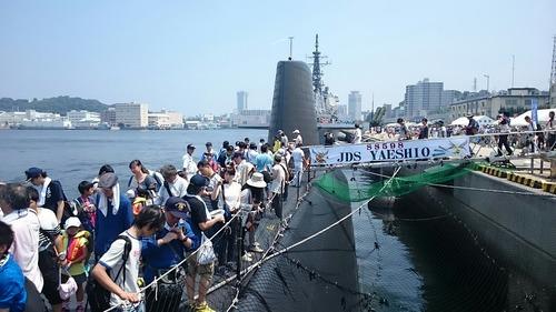 SS598 潜水艦やえしお ヨコスカサマーフェスタ2015