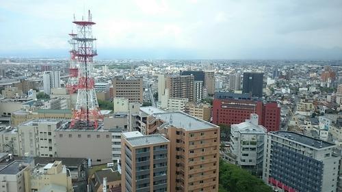 富山市内眺望 富山市役所展望塔