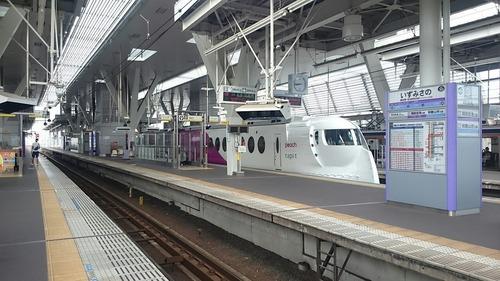 南海電鉄 50000系 Peach×ラピート ハッピーライナー 泉佐野駅