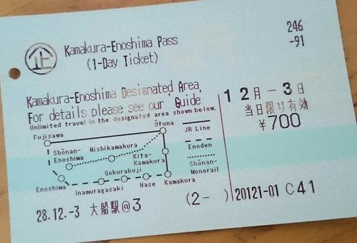 切符 Kamakura-Enoshima Pass