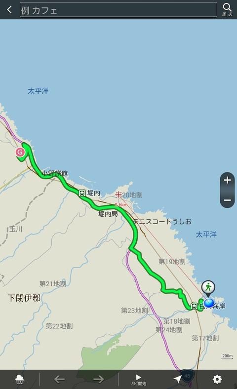 ナビウォーク ルート地図
