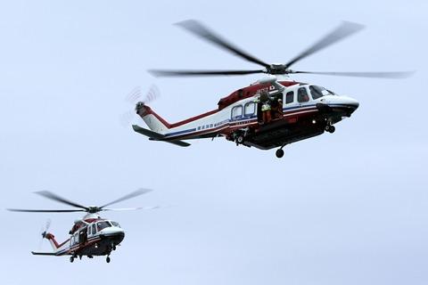 JA131Y JA152Y AW139 横浜消防出初式 赤レンガ倉庫