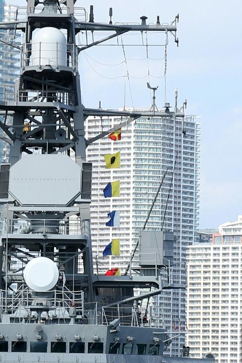 信号旗 DD-107 護衛艦 いかづち 一般公開 第69回 東京みなと祭