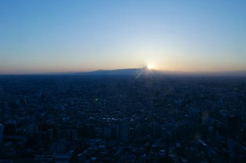 ダイヤモンド富士 東京都庁 展望台