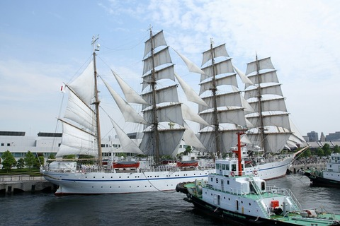 帆船 日本丸 第34回 横浜開港祭 新港埠頭 総帆展帆