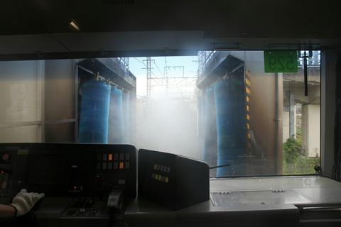 車体洗浄装置通過体験 JR東日本東京総合車両センター 夏休みフェア