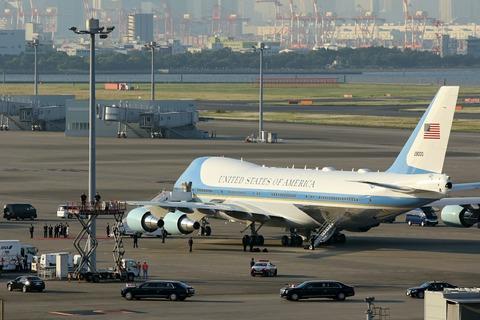 羽田空港 アメリカ合衆国 トランプ大統領来日