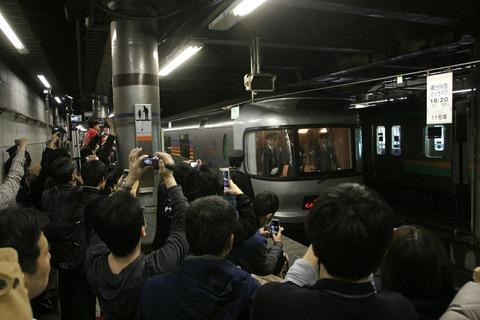 寝台特急カシオペア 上野駅発ラストラン 上野駅13番線入線
