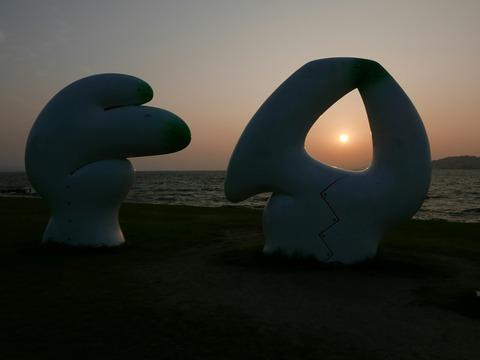 夕日 渡辺豊重 会話 島根県立美術館 宍道湖