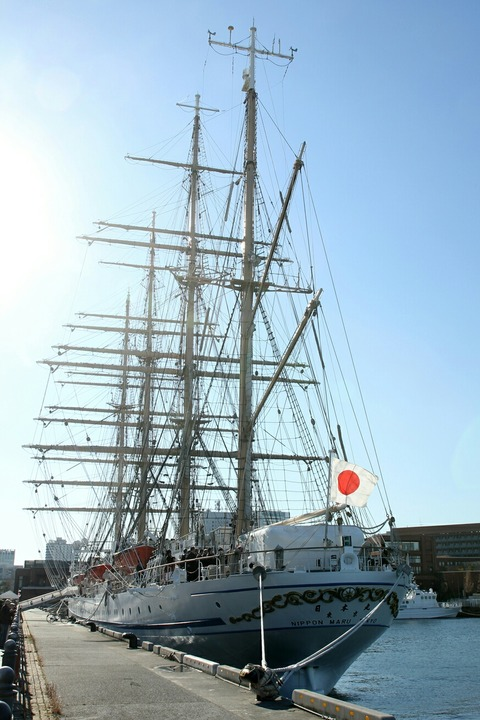 帆船 日本丸 横浜港 新港埠頭
