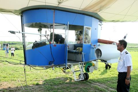 飛行船ゴンドラ試乗 スヌーピーJ号 飛行船一般公開イベント