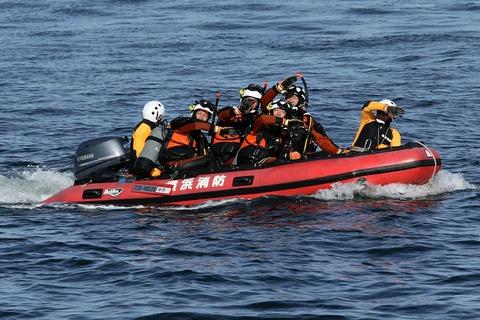 横浜消防出初式 航空救助訓練