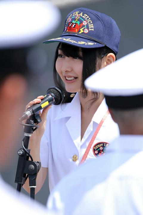 山口立花子 1日艦長任命式 護衛艦 いかづち 第69回 東京みなと祭