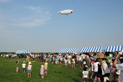 スヌーピーJ号 飛行船一般公開イベント 野田市スポーツ公園
