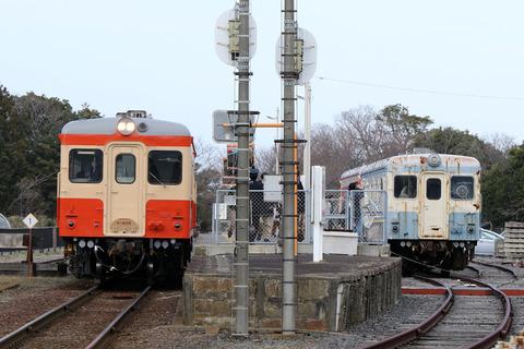 ひたちなか海浜鉄道 キハ20形 キハ205 キハ22形 キハ222 阿字ヶ浦駅