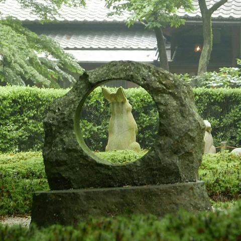本堂後庭園 兎 鎌倉 明月院