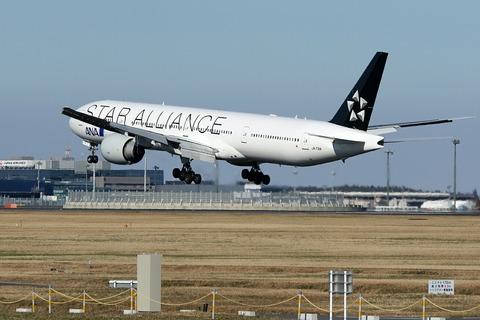JA731A B777-300 ANA STAR ALLIANCE RJAA