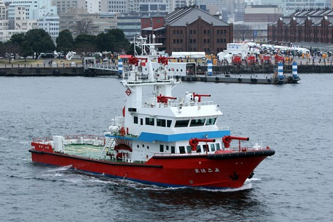 消防艇 よこはま 横浜消防出初式 航空救助訓練 横浜大桟橋