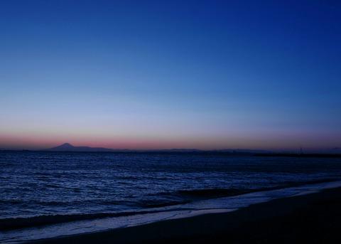 夕景 稲毛海浜公園 いなげの浜