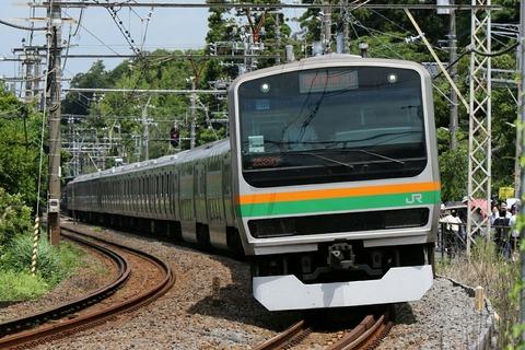 JR東日本 E231系 北鎌倉駅付近