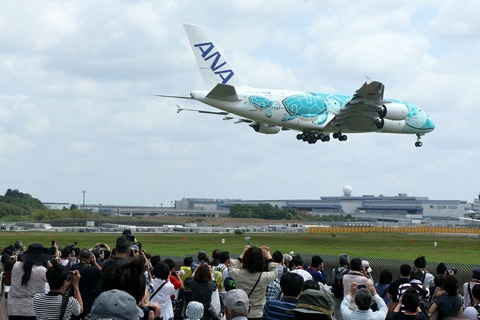 JA382A A380-800 ANA FLYING HONU RJAA Delivery flight