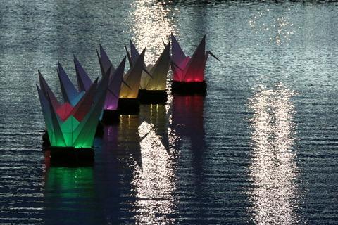 元安川 折りづる 広島 平和記念公園 広島フラワーフェスティバル