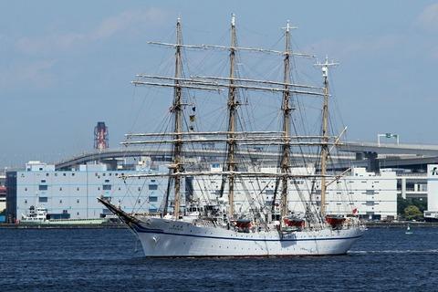 帆船 日本丸 第34回 横浜開港祭 新港埠頭入港