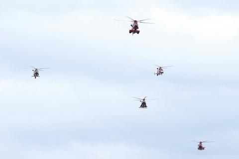 消防ヘリコプター 東京消防出初式 東京ビッグサイト 南千石橋