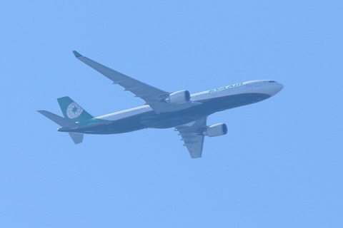A330-300 EVA NEW COLOR RJTK 上空通過
