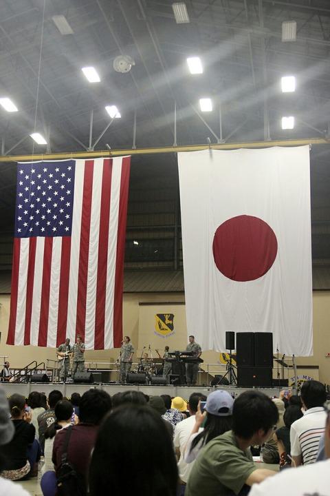 太平洋空軍バンド 格納庫ステージ 横田基地日米友好祭