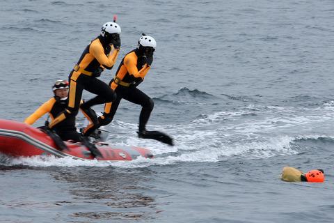 横浜消防出初式 横浜市消防局 航空救助訓練