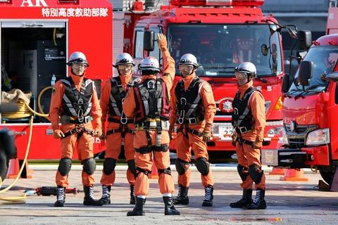 横浜消防出初式 横浜市消防局 消防総合訓練