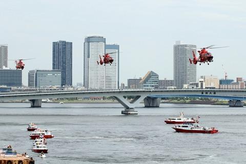 第67回 東京みなと祭 水のページェント 消防艇&消防ヘリ