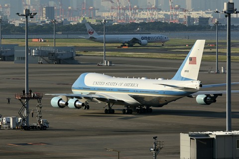 92-9000 VC-25 USAF Air Force One RJTT V.I.P.Flight