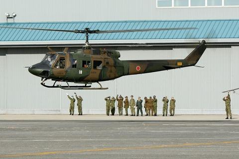 41818 UH-1 帰投 第44回 木更津航空祭 陸上自衛隊 木更津駐屯地