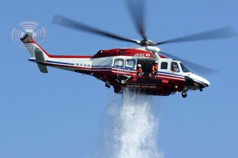 JA131Y AW139 横浜消防出初式 一斉放水