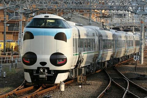 JR西日本 287系電車 特急くろしお9号 パンダくろしお 和歌山駅