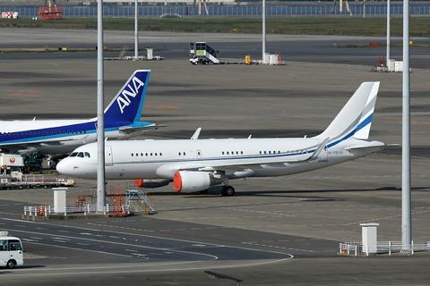 M-YBUS A320-200 RJTT V.I.P.Flight カザフスタン大統領 随行機