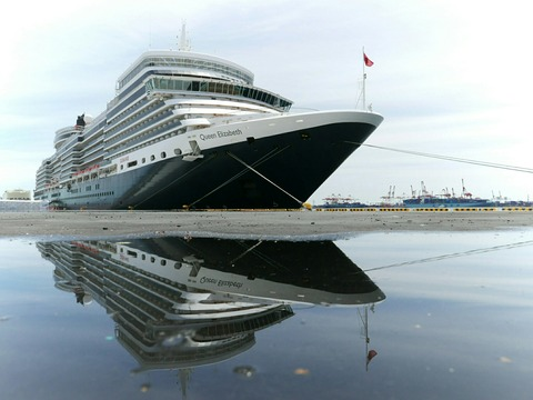 クイーン・エリザベス MS Queen Elizabeth 大黒ふ頭客船見学会