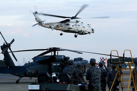 21-8445 SH-60K 帰投 入間航空祭2018 航空自衛隊 入間基地