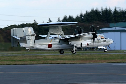 34-3459 E-2C 帰投 入間航空祭2018 航空自衛隊 入間基地