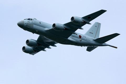 P-1 自衛隊記念日観閲式 観閲飛行 彩湖・道満グリーンパーク