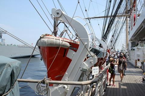 帆船 日本丸 第34回 横浜開港祭 新港埠頭 一般公開