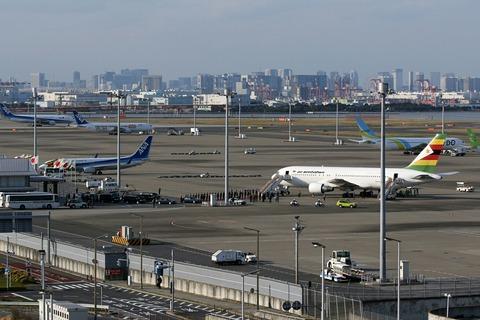 Z-WPF B767-200 羽田空港 ジンバブエ大統領来日