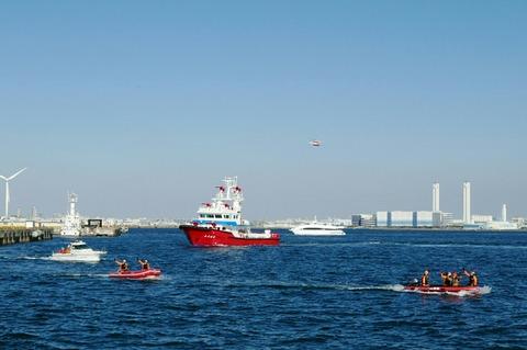 消防艇よこはま 横浜消防出初式 航空救助訓練