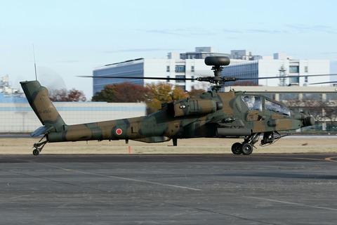 74504 AH-64D 帰投 陸上自衛隊 立川防災航空祭 立川駐屯地