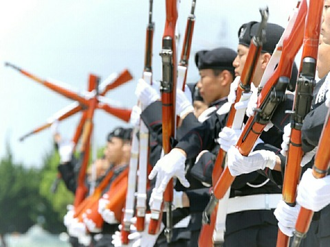 高等工科学校 ドリル部演技 霞ヶ浦駐屯地 開設66周年記念行事